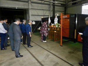 新規レーザー加工機導入及び安全祈願祭