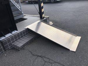 車椅子用アルミ製スロープ